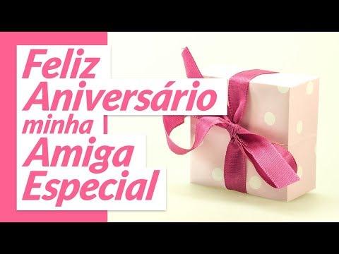 Msg de aniversário - Um feliz aniversário, minha amiga especial!