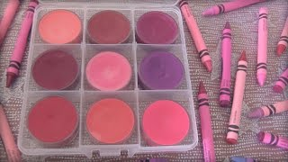 DIY Crayon Lipstick // Lip Gloss - SoCraftastic - YouTube