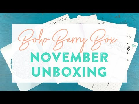 Boho Berry Box: November Unboxing!