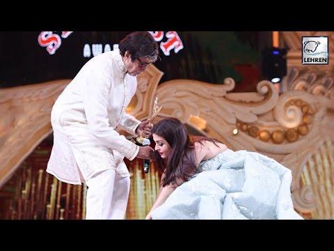 Video Aishwarya Rai Touches Amitabh Bachchan's Feet Before Receiving Award | LehrenTV download in MP3, 3GP, MP4, WEBM, AVI, FLV January 2017
