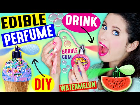 DIY EDIBLE PERFUME | Spray In Your Mouth | Drink Fragrance | Lickable & Kissable Body Splash! (видео)