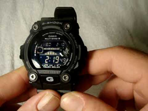 Casio G-Shock Rescue Series All Black GW-7900B with Tide Graph and Moon Phase