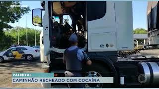 Caminhoneiro é preso com mais de meia tonelada de cocaína em Palmital
