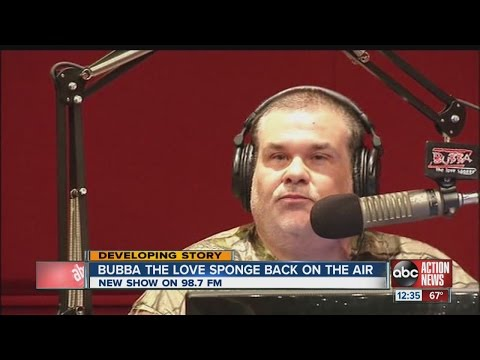 Bubba the Love Sponge, formerly Todd Clem, returns to Tampa Bay area radio