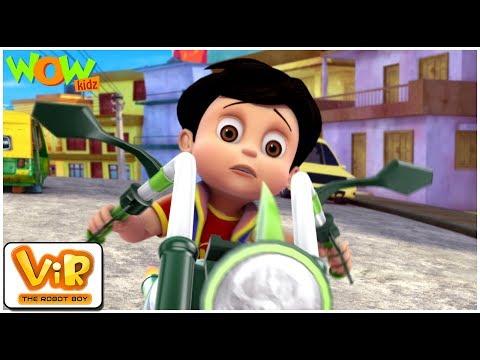 Vir The Robot Boy | Hindi Cartoon For Kids | The mad bike | Animated Series| Wow Kidz