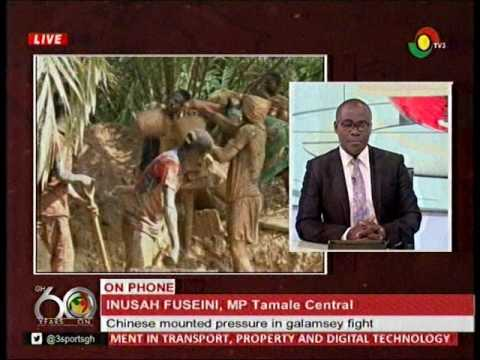 Chinese Mounted pressure on galamsey fight - Inusah Fuseini - 28/3/2017 (видео)