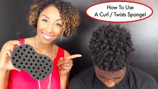 How To Use A Curl / Twists Sponge, Tutorial For Long Natural Hair | BiancaReneeToday