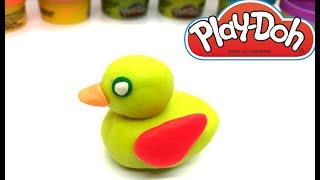 PLAY DOH - How to make DUCK With Play Dough Learning Colours