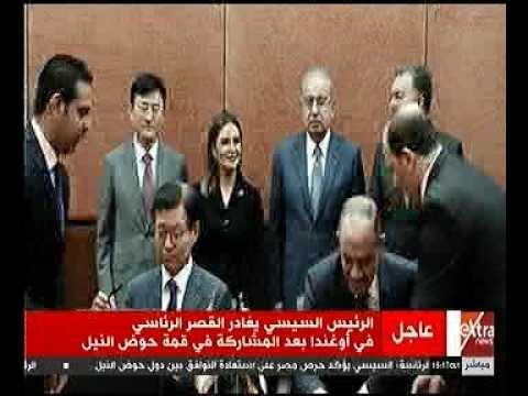 رئيس الوزراء يشهد توقيع عقد تصنيع وتوريد عدد ( 32 ) قطار مكيف لمترو الانفاق