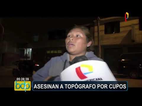 San Juan de Lurigancho: asesinan a ingeniero topógrafo por cupos en obras de construcción