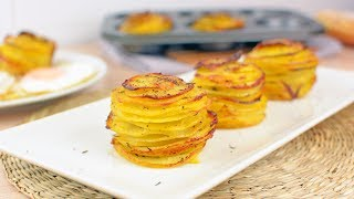 Learn how to make potato stacks with garlic, Parmesan cheese and thyme. These roasted potato stacks are incredibly delicious and make a great side dish or appetizer.▼ INGREDIENTS LIST:- 4 medium potatoes, peeled and washed- 20 g of powdered Parmesan cheese- 40 g of melted butter, plus extra for greasing- 1/2 teaspoon of dried thyme- 1/2 teaspoon of garlic powder- 1 teaspoon of salt- Ground black pepper, to taste⇨ Subscribe to Very Easy Recipes! ⇦http://www.youtube.com/subscription_center?add_user=VeryEasyRecipes⇨ Follow us on Social Networks! ⇦- Twitter: http://twitter.com/VeryEasyRecipes- Facebook: http://facebook.com/VeryEasyRecipes- Instagram: http://instagram.com/VeryEasyRecipes- Google+: http://plus.google.com/+VeryEasyRecipesTweet and tag us in your recipe attempts!P.S. We are not native speakers of English, so we apologize if there are any incomprehensible words, typos or grammatical errors in this video. We hope you enjoy the recipe!