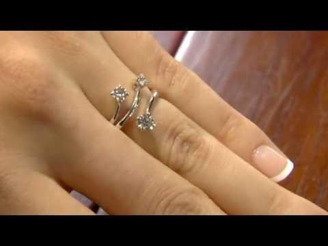 TR1047 Unusual Trilogy Diamond Ring