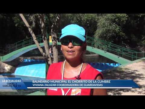 VIDEO CON NOTAS A VIVIANA ZALAZAR Y FLAVIO RUIZ: EL BALNEARIO EL CHORRITO ESTA BARBARO !!!