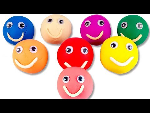 Learn Colors Play Doh Smileys For Kids Children Toddlers Babies Color Song For Kids Nursery Rhymes