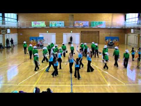 高江洲小マーチングバンド 下野谷小学校にてドレスリハーサ