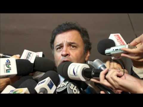 Aécio Neves : Críticas ao aparelhamento do governo federal
