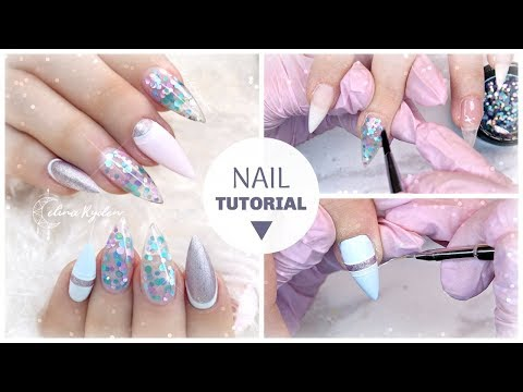 NAIL ART TUTORIAL  CUTE SPRING BUBBLES  LIGHT ELEGANCE BUTTERCREAMS  GEL NAILS