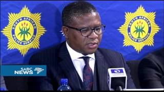 Police Minister, Fikile Mbalula held a media briefing at OR Tambo International a short while ago. He spoke about security ...