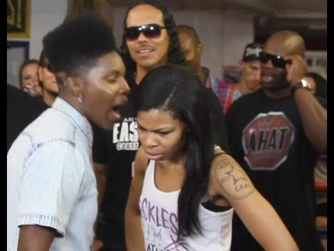 rapper - Vote for a winner here http://ahat.tv/rap-battles/gay-rapper-stud-phamous-vs-zan-ahat-rap-battle.html Female MC Stud Phamous pulls out a strap-on dick (dildo...