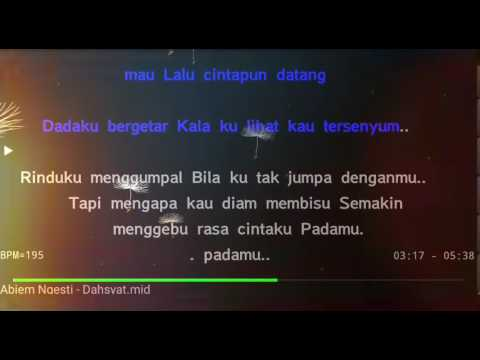 Karaoeke Dahsyat Abiem Ngesti No Vocal HQ Audio