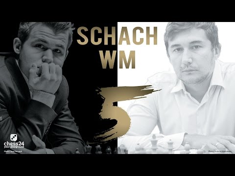 Schach WM 2016: Carlsen - Karjakin Partie 5 Schach WM 2 ...