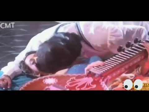 Meena wet kissed enjoyed by  Mohan Babu