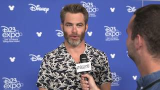 Chris Pine talks working with Ava DuVernay and Patty Jenkins after presenting 'A Wrinke in Time' at Disney's D23 Expo.