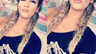 Glittery & Glossy + Stacked Dutch Braid Pigtails | Nicole Guerriero by Nicole Guerriero