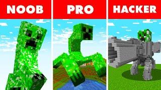 Noob vs. Pro vs. Hacker : MUTANT GIANT CREEPER SURVIVAL CHALLENGE! In Minecraft Animation