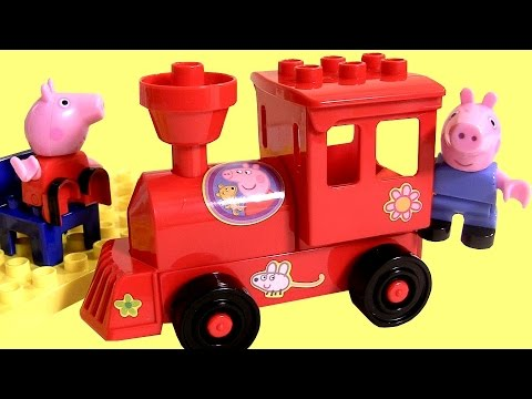 pig - DisneyCollector presents New Peppa Pig Blocks Locomotive Mega Train Construction Set. It is a set of blocks to develop the imagination of children. With it you can build Peppa's train station....