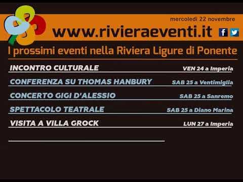 GLI APPUNTAMENTI DI RIVIERA EVENTI DI MERCOLEDI' 22 NOVEMBRE 2017
