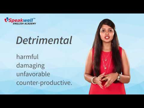 Detrimental ,Daily Vocabulary lessons – Word 73