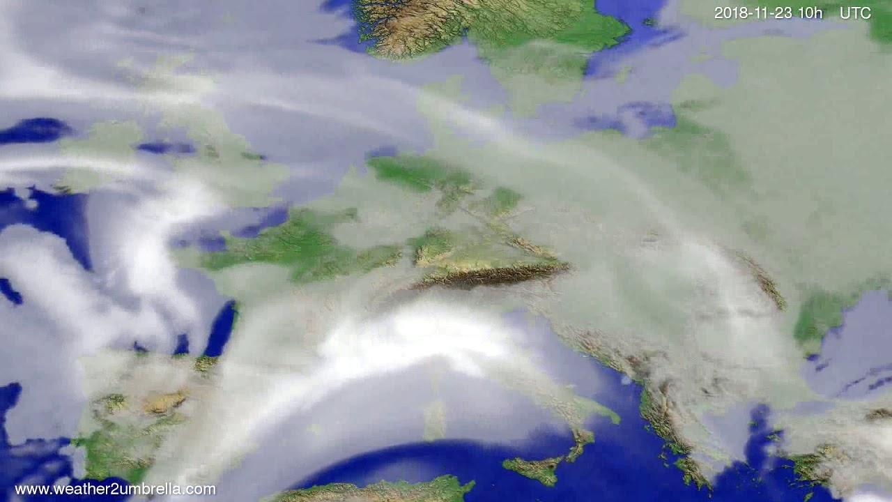 Cloud forecast Europe 2018-11-21
