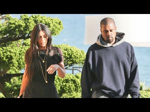 Kim And Kanye Look Somber In Malibu When Asked About Ariana Grande Concert