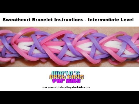 Rainbow Loom Rubber Band Refill – Sweatheart Bracelet Instructions