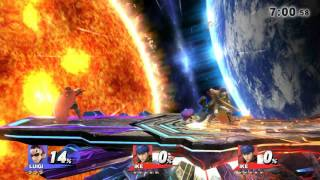 Ike Climbers in sm4sh through a glitch