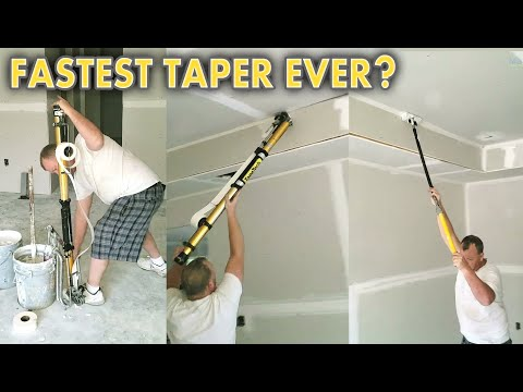 Drywall Taper Working Overtime