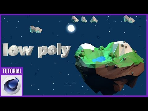 1. Modela Una Escena Low Poly En Cinema4D || Tutorial