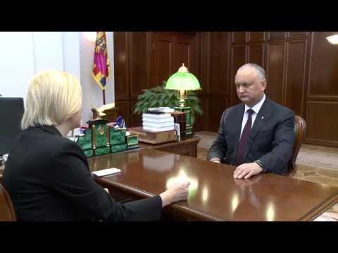 Igor Dodon a avut o întrevedere de lucru cu Irina Vlah