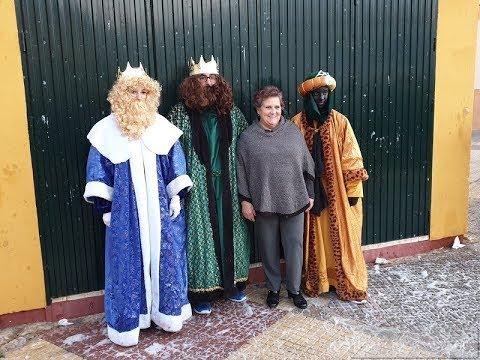 Visita de los Reyes Magos, Nevada, en la Barriada San Francisco de Asís de Isla Cristina