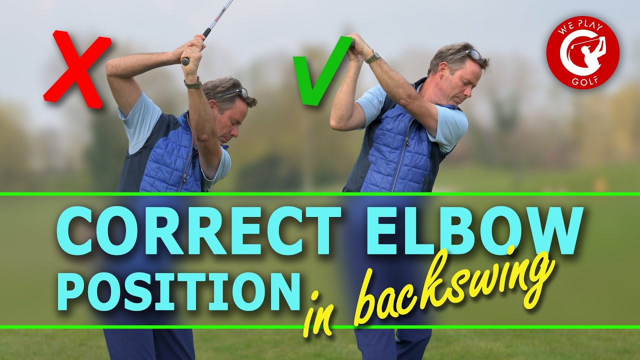 CORRECT RIGHT ELBOW POSITION IN GOLF SWING