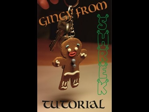 Polymer Clay Gingerbread man (Gingy from Shrek) TUTORIAL