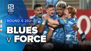 Blues v Western Force Rd.5 2021 Super rugby Trans Tasman video highlights
