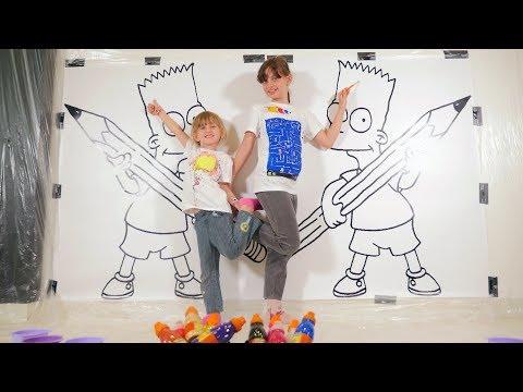 GIANT 3 MARKER CHALLENGE XXL • KIDS PRETEND PAINT - Studio Bubble Tea