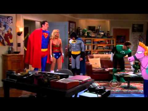 The Big Bang Theory - The Gang All Dressed Up As The Justice League