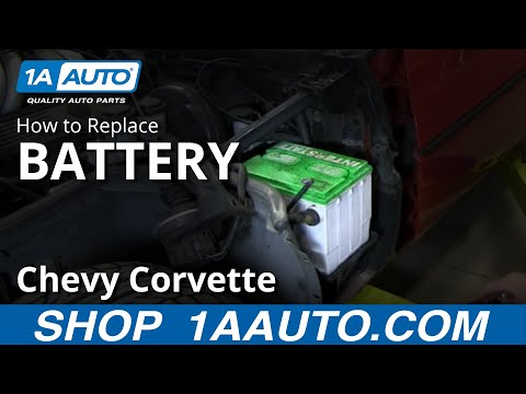 How To Install Replace Dead Battery 1984-96 Chevy Corvette