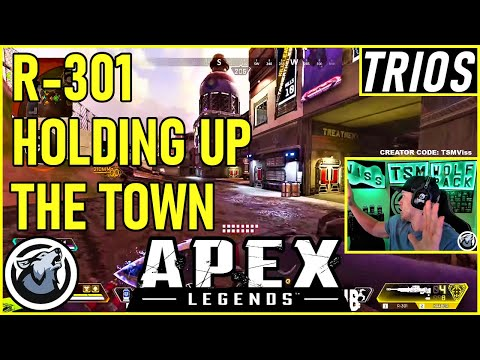 VISS HOLDING UP THE TOWN WITH THE R-301 w/ TannerSlays and Caliverse APEX LEGENDS SEASON 5
