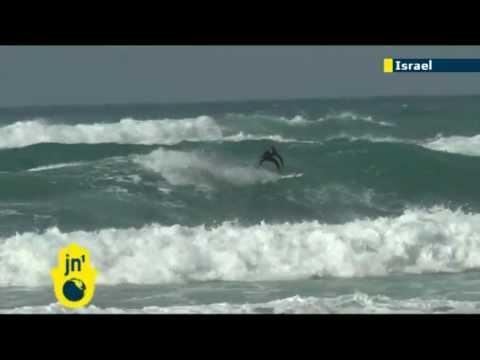 Surfing flourishes in Tel Aviv, Israel: JN1's Sivan Raviv asks surfers about winter's waves & surf