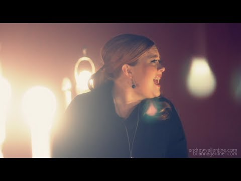 Adele - Set Fire To The Rain Music Video - With Adele Impersonator