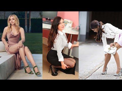 Women min dresses and high heel fashion